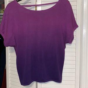 Purple ombrè open back cropped sweater